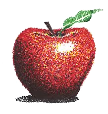 apple-pointillism