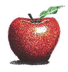 apple-pointillism